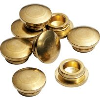 3/8'' Brass Hole Plugs, 8-Pack