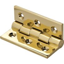 Vertex Solid Extruded 90° Stop Hinges-Polished Brass Finish