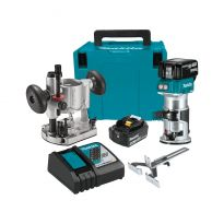 Makita XTR01T7 18V LXT Lithium-Ion Brushless Cordless Compact Router Kit with Plunge Base