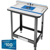 Rockler High Pressure Laminate Router Table, Fence, Stand and Phenolic Plate D