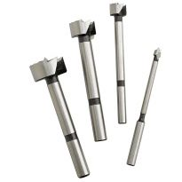 4-Piece Fisch Wave Cutter Forstner Bit Set