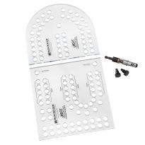 XL Cribbage Board Templates, 2-Player, Curved Track
