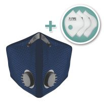 M2 Mesh Face Mask with Bonus 3-Pack HEPA Filters, Navy