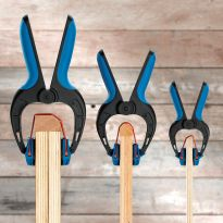 The three Rockler Bandy Clamps holding boards together