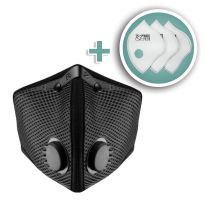 Large M2 Mesh Face Mask with Bonus 3-Pack HEPA Filters, Black