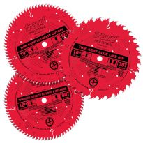 Freud Woodworker's Ultimate 3-Piece Saw Blade Set