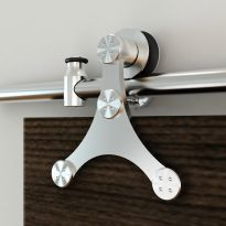 Rolling Barn Door Hardware Kit, Stainless Steel, Tristar