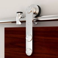 Rolling Barn Door Hardware Kit, Stainless Steel, Vertical Strap