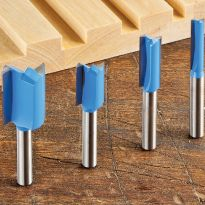 "Rockler 4-Piece Straight Bit Set - 1/4"" Shank"