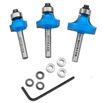 "1/4"" Rockler Round Over Beading Router Bit Set"