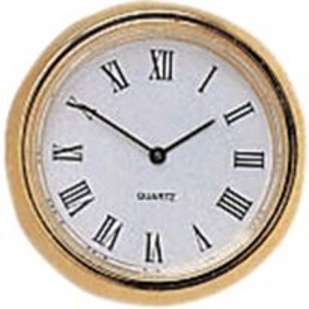 Mini Quartz Clock Fittings with White Black/Roman Numerals