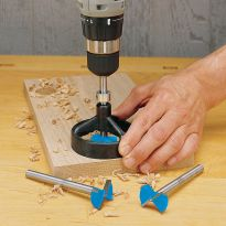 The exclusive JIG IT� Drill Guide can be used with a drill press or a hand drill to ensure perfectly aligned holes everytime!