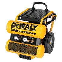 Dewalt D55154 Heavy-Duty 1.1 HP Continuous 4 Gal Electric Wheeled Dolly-Style Air Compressor with Panel