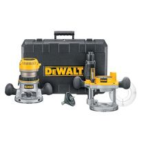 Dewalt DW618PK Heavy-Duty 2-1/4 HP maximum motor HP EVS Fixed Base/Plunge Router Combo Kit w/Soft Start