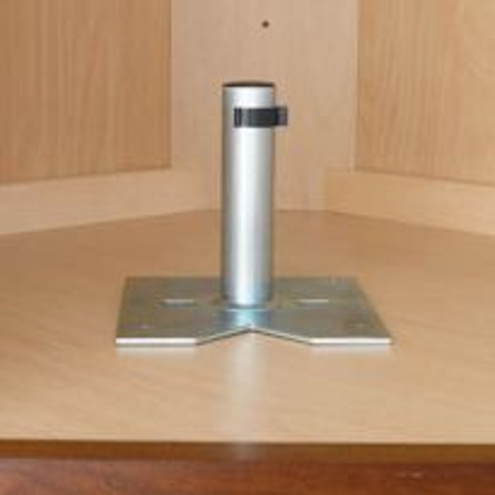 Single Shelf Bottom Mount Bearing, mounted in cabinet