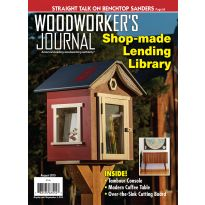 Image of the cover of the July and August issue of the Woodworker's Journal.