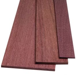 """LOT OF 3 PIECES PURPLEHEART THIN STOCK BOARDS LUMBER CRAFTS WOOD 3//8/"""" X 2/"""" X 12/"""""""