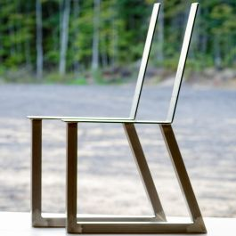 Welded Steel Bench Chair Leg Set With Backrest Unfinished