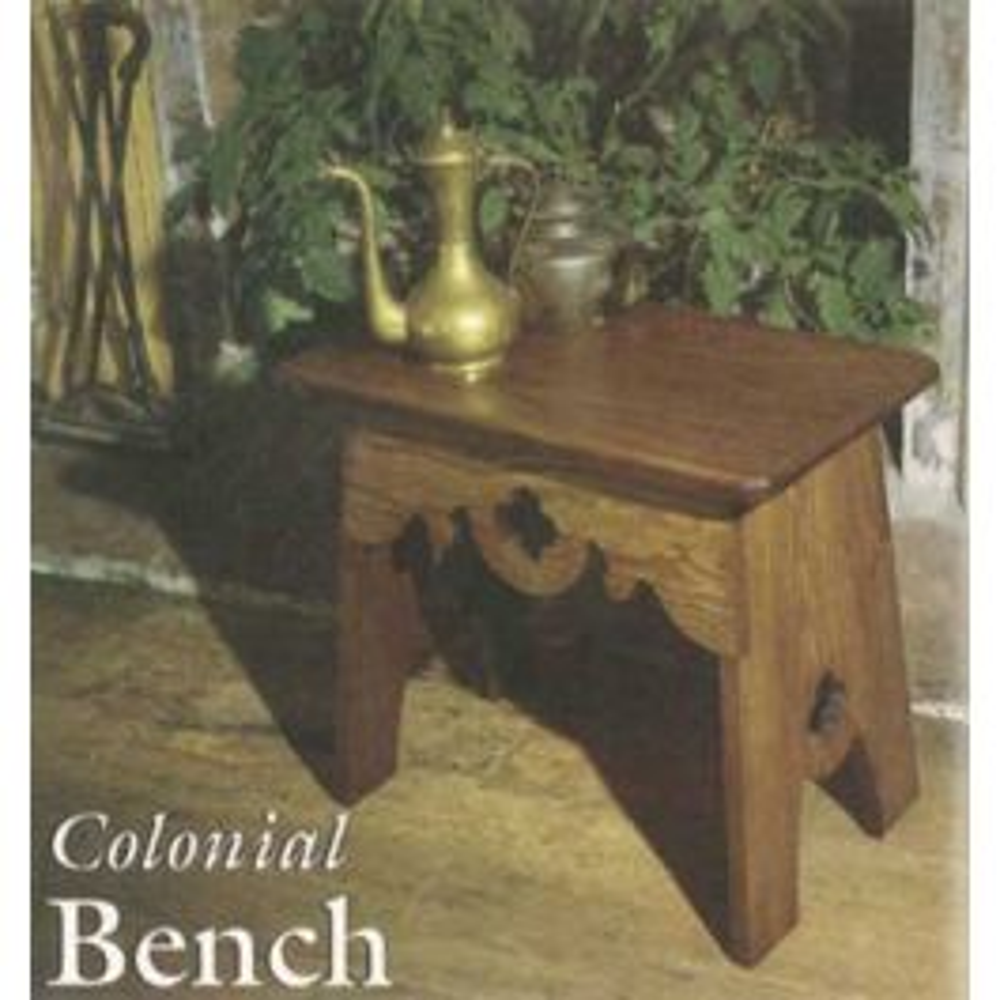 Colonial Bench Downloadable Plan