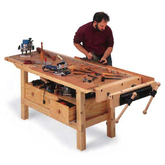 Woodworking Projects Plans: Woodworker's Journal Budget Workbench Plan