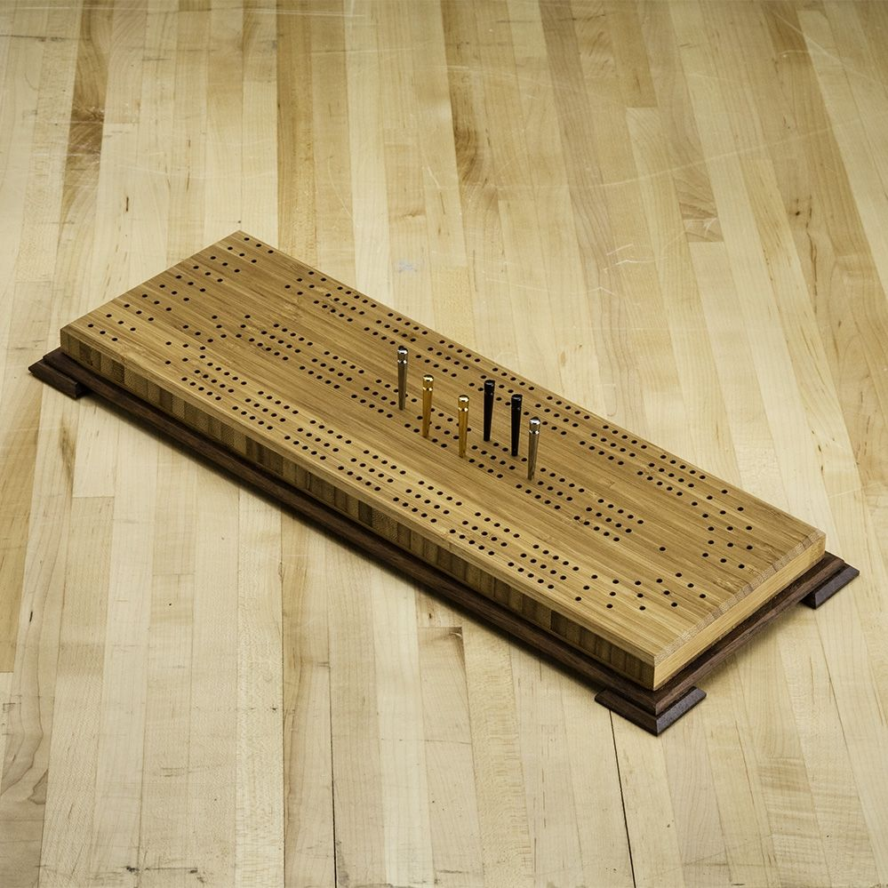 Small Cribbage Board Templates 3 Player Curved Track