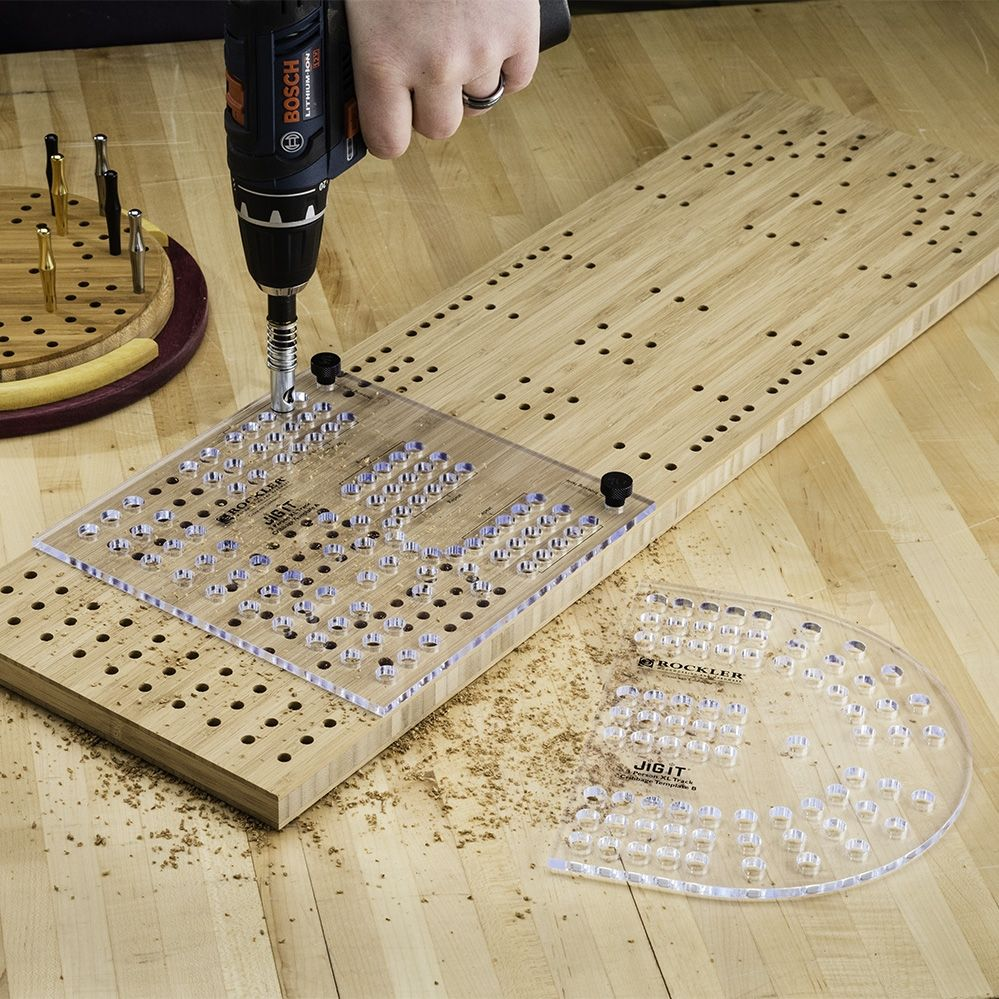 Xl Cribbage Board Templates 3 Player Curved Track