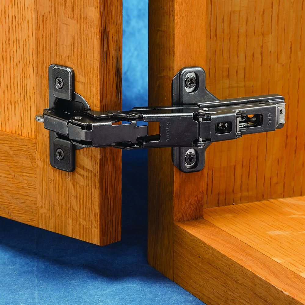 Salice 165° Face Frame Cabinet Hinges, Titanium Finish