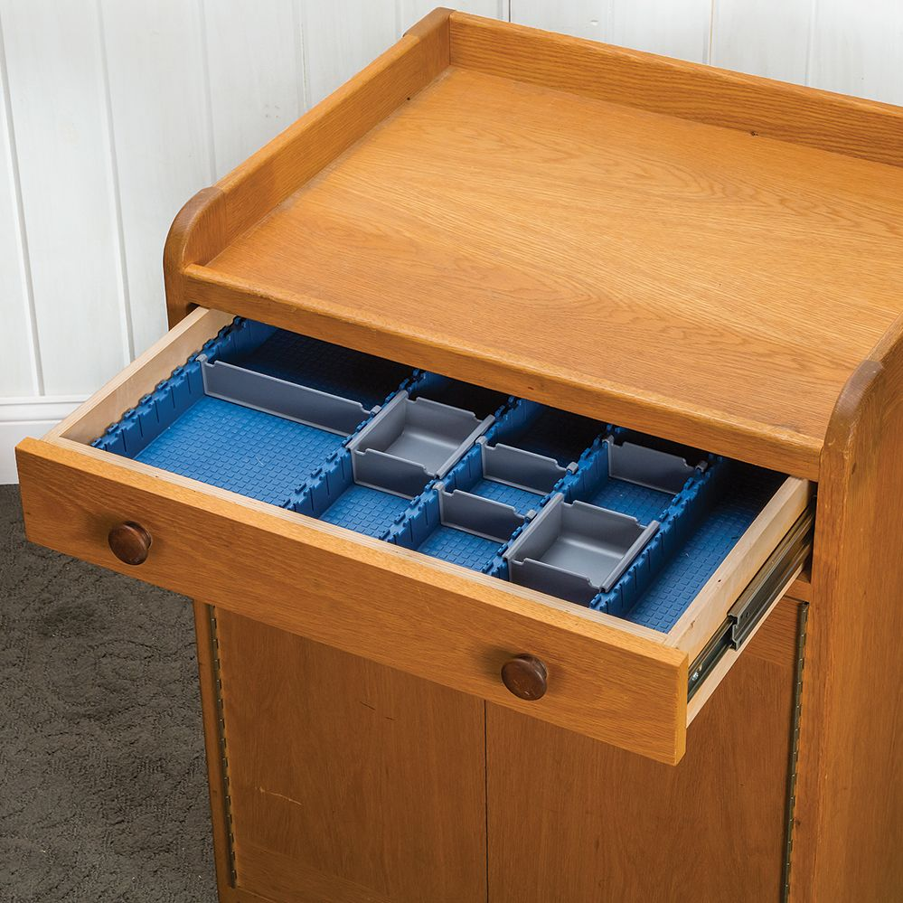 Lock Align Drawer Organizer Shown In A Cabinet