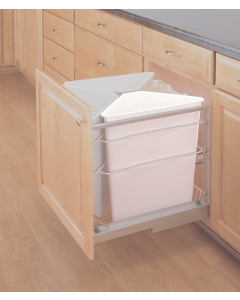 White Recycling Container