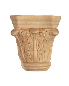 Large Basswood Hand Carved Acanthus Capital (2031)