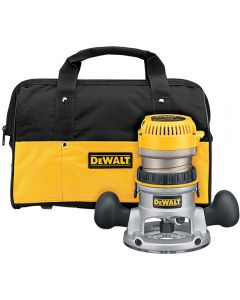Dewalt DW618K Heavy-Duty 2-1/4 HP maximum motor HP EVS Fixed Base Router Kit with Soft Start