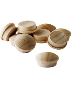 Birch Screw Hole Buttons