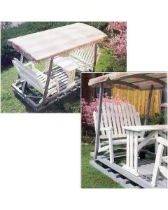 Downloadable Plan to Make Your own Porch Glider with table and Canopy
