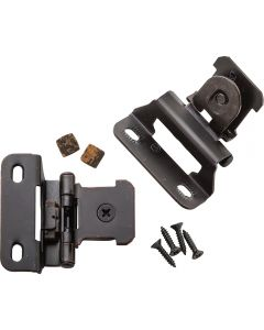 "1/4"" Overlay, Oil Rubbed Bronze, Single Demountable Hinges"