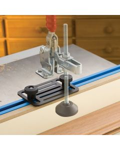 Convenient plate allows any of our toggle clamps to quickly and easily attach directly to a T-track