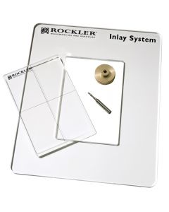System includes a blank acrylic template insert that you can custom-cut to your liking