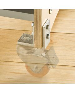 Two-piece design allows for mounting on a variety of stock thicknesses.