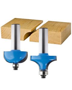 "Rockler 2-Pc. Drop Leaf Table Rule Joint Router Bit Set - 1/2"" Shank"