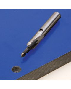 Specially designed Phenolic Countersink Bit drills easily without bogging down.