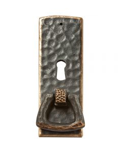 Dark Copper Stickley Arts & Crafts Pull with Keyhole Pull