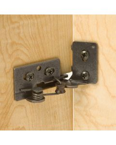 """Snap-Closing Semi-Concealed Hinges - For 1/4"""" Overlay Doors (#5)"""