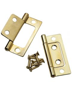 "Brass Plated Hinge, (A) 3/4"", (B) 15/16"", (C) 2-1/2"" - Pair"
