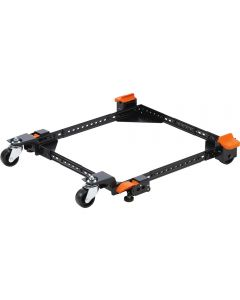 Heavy-duty 3' wheels and rubber leveling feet allow you to