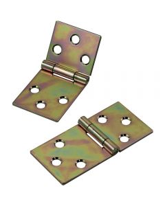 Butt joint hinges are yellow zinc plated