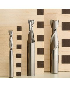 "3-Piece Spiral Upcut Bit Set (Includes 1/4"", 3/8"" and 1/2"" HSS Spiral Mortising Bits)"