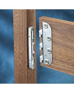 Four matched sets of 5'' Surface Mounted Bed Rail Brackets