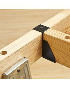 These sawhorse brackets create a strong, stable base