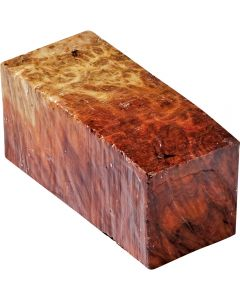 Red Mallee features striking red heartwood, interspersed with pale sapwood.