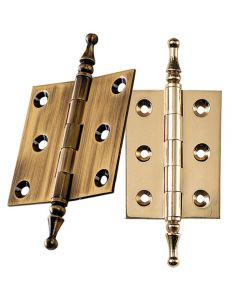 Finial-Tip Extruded Hinges 2'' L x 1-1/2'' W