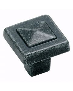 Square Wrought Iron Cabinet Knob - Amerock Forgings